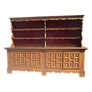 SOLD Spanish Antique Furniture Spanish Colonial Sideboard Bookcase