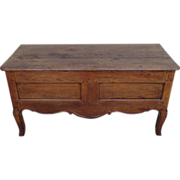 French Antique Oak Trunk Chest Coffer with Lift Top Lid Antique Furniture!