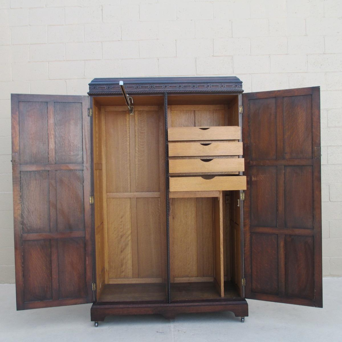 Antique Armoire Wardrobe With Drawers Pictures to Pin on Pinterest