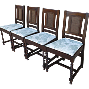 Set of Four Stickley Brothers Arts & Crafts Dining Chairs