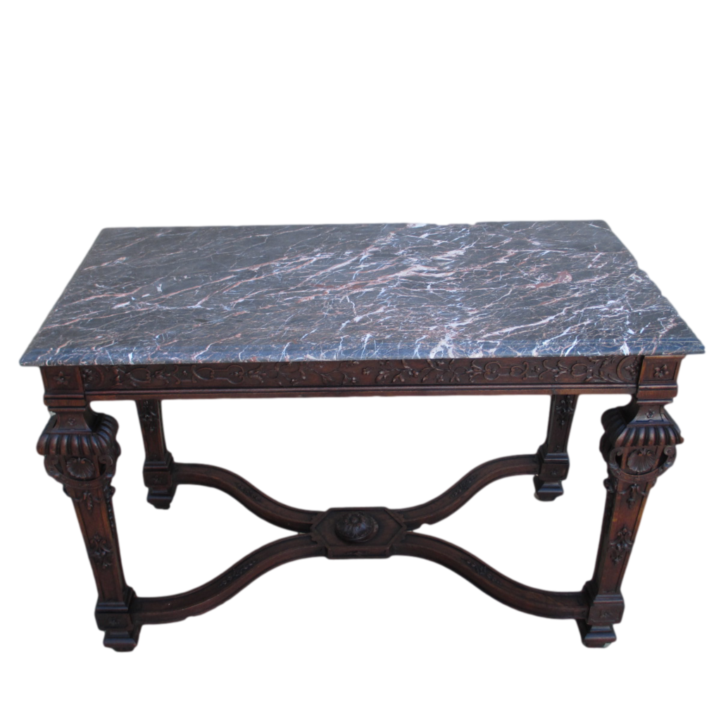 Marble Console Table : Antique Marble Top Console Sofa Table Antique Furniture
