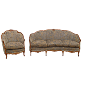 SOLD American Antique Sofa Couch and Chair Antique Furniture