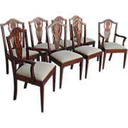 SALE PENDING American Antique Hepplewhite Dining Chairs Antique Furniture