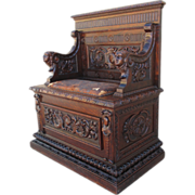 French Antique Gothic Bench Hall Chair Antique Furniture