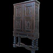 Antique Dutch Baroque Walnut Cabinet Antique Furniture