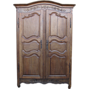 French Antique Louis XV French Country Armoire Wardrobe Antique Furniture