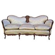 SOLD Antique Carved Sofa Couch Loveseat Antique Furniture!