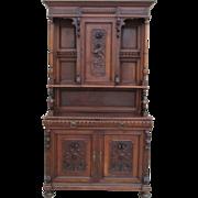 SALE 19th Century French Antique Renaissance Hutch Server Cabinet Antique Furniture
