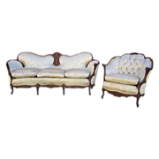 SOLD Antique Carved Sofa Couch and Chair Antique Furniture