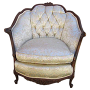 SOLD Antique Carved Chair Armchair Antique Furniture
