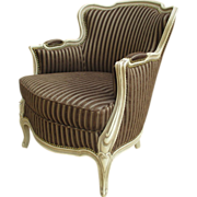 Antique Furniture French Antique Painted Armchair Parlor Chair!