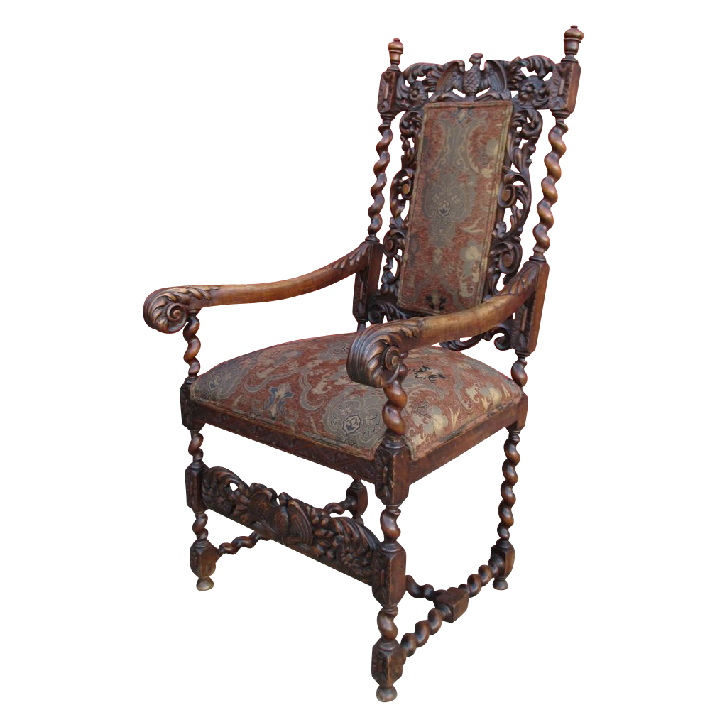 High back antique chairs - English Antique High Back Arm Chair Antique Furniture From