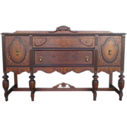 SALE PENDING American Antique Walnut Sideboard Antique Furniture