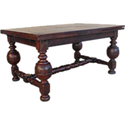 SALE French Antique Rustic Dining Table with Leaves Antique Furniture