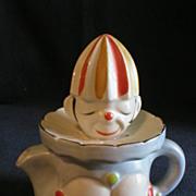 "Japanese ""Figural Clown"" 2-Piece Fruit Juice Reamer"