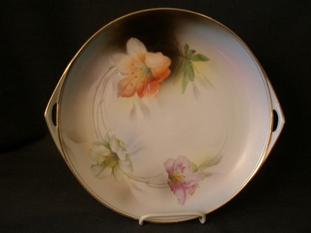 Prussia - Royal Rudolstadt Serving Plate/Tray w/Lily Blossom Decoration