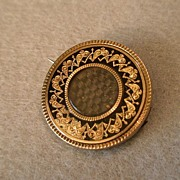 Mourning Brooch - Mourning Jewelry - Georgian Hair Brooch