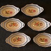 "Set of 6 Schumann Bavaria ""Rhineland"" Pattern Individual Candy/Nut Baskets"