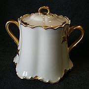 "SOLD Haviland & Co. Limoges ""Ranson w/Gold"" Sugar Bowl"