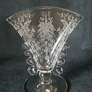 "Heisey Glass ""Orchid"" Fan Shaped Vase - Lariat Blank"