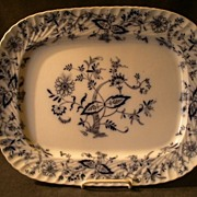 "William Alsager Adderley Blue Transfer-Ware ""Spero"" Pattern Platter"