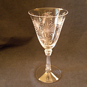 "Set of 5 - Fostoria ""Lido"" Pattern Water Goblets"