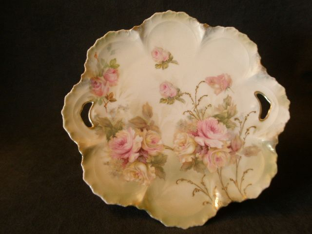 "Wheelock ""Prussia"" Transfer Design Plate w/Rose Floral Motif"