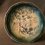 Indianapolis, Indiana Advertising/Souvenir Plate w/Baby Birds Transfer