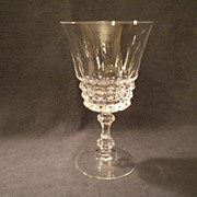 """Set of 6 - Cristal d'Arques/Durand  """"Tuilleries/Villandry"""" Pattern Crystal Water Gob"""