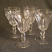 Set of 4 - Heisey Colonial Pattern Goblets, Clear, Stem #300