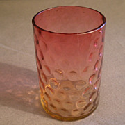 Amberina Tumbler in Inverted Baby Thumbprint Pattern