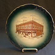 "Buffalo Pottery Commemorative Plate ""Joseph Ruwitch & Sons"" Norway, Michigan"
