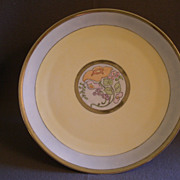Bavaria Porcelain Hand Painted Charger w/Art Deco Floral Motif