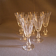 "Set of 6 Waterford Crystal ""Glencree"" Pattern Sherry Stems"