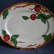 """Vintage Franciscan China """"Apple"""" Pattern 14"""" Oval Serving Platter"""