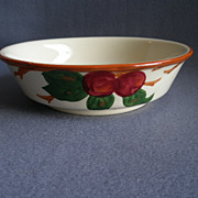 "Vintage Franciscan China ""Apple"" Pattern Round Vegetable Bowl"