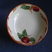 """Set of 4 Vintage Franciscan China """"Apple"""" Pattern Fruit/Dessert Bowls"""