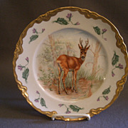 SOLD Hutschenreuther Porcelain Cabinet Game Plate w/Young Buck Deer Motif