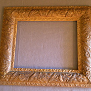 SOLD Antique Victorian Gesso Picture Frame w/Overall Floral Motif