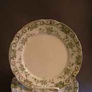 "Set of 6 Henry Alcock & Co. ""Elite"" Pattern Luncheon Plates w/Floral & Scroll Motif"