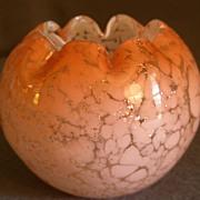 """Vintage """"Vasa Murrhina"""" Glass Rose Bowl"""