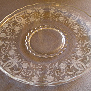 """New Martinsville or Viking Glass Company """"Prelude"""" Pattern Torte/Sandwich Plate"""