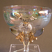 """Shriners/Masonic Syria Temple """"1911 Rochester NY"""" Souvenir Champagne Glass"""