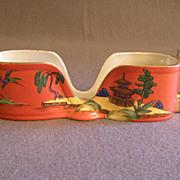 Vintage Noritake Hand Painted Spoon Holder w/Oriental Scenic Motif