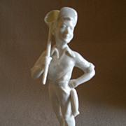 """Hutschenreuther Porcelain """"Fishing Boy"""" Figurine - Gunther R Granget"""