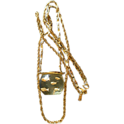 Castlecliff Gold-Tone & Lucite Fishbowl 'Clear Water Creatures' Necklace