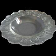"""Vintage Lalique France """"Honfleur"""" Pattern 10 3/4"""" Centerpiece or Console Bowl"""