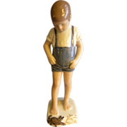 """Bing & Grondahl Porcelain of Young Lad """"Boy with Crab"""" Figurine #1870"""