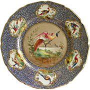 Royal Doulton H.P. 'Birds of Paradise' Cabinet Plate (3 of 6) Signed 'E Percy'