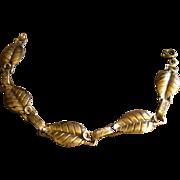 """Vintage Michele Sterling Silver """"Leaf Motif"""" Bracelet"""